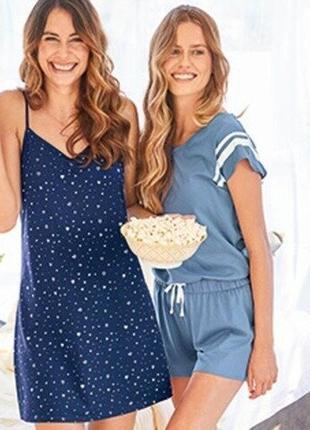 Летний комбинезон ромпер для дома пижама blue motion.