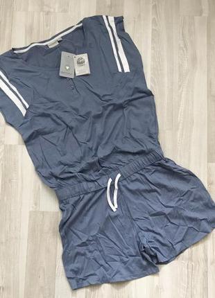 Летний комбинезон ромпер для дома пижама blue motion.4 фото