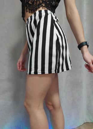 Трикотажная полосатая юбка р. 44-46