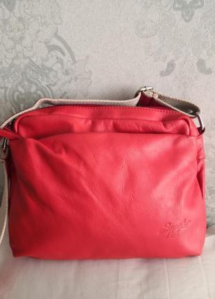 Роскошная кожаная сумка samantha look, италия👜👜💣🌷🌹🔥
