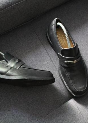 Мужские кожаные туфли лоферы mark spencer