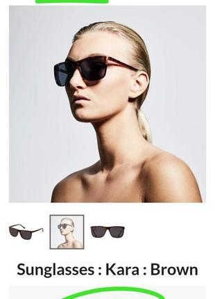Фирменные квадратные коричневые солнцезащитные очки черепашки датский бренд качество pilgrim