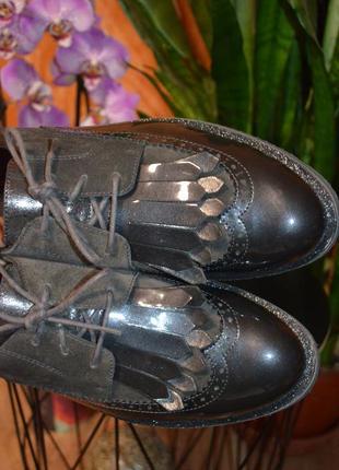 Стильные кожаные туфли полуботинки paul green