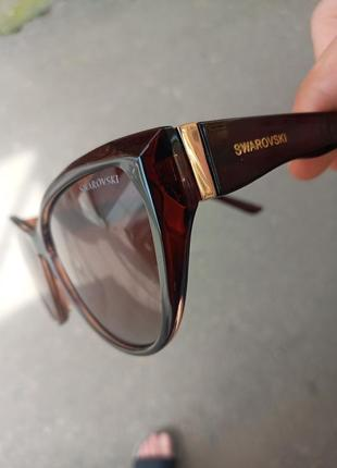 Стильные женские очки кошки очки лисички swarovski polarized италия