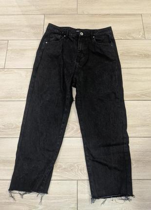 Черный джинсы мом от boohoo