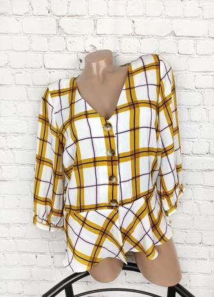 Блуза клетчатая рубашка