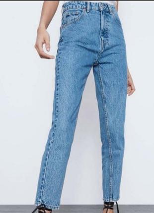 Новые джинсы zara mom 32 размер