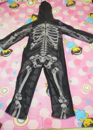 Костюм скелета на хэллоуин!
