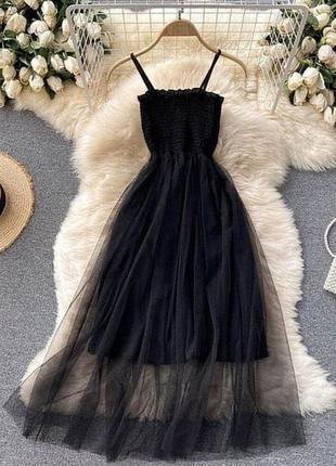 Платье софт с фатиновой юбкой