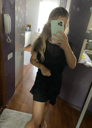 Классное кружевное платье zara