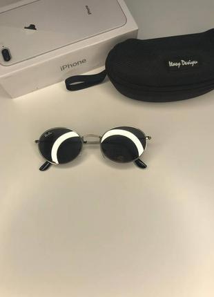 Стильные очки ray ban oval, серебро