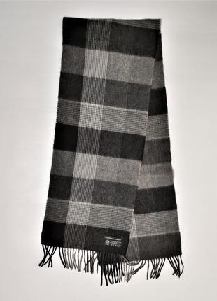Кашемировый шерстяной woolmark  мужской шарф warner& parker /3535/