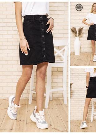‼️супер цена‼️чёрная джинсовая юбка летняя
