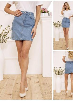 Джинсовая летняя юбка