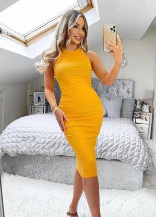 Платье в рубчик zara s тренд!!!