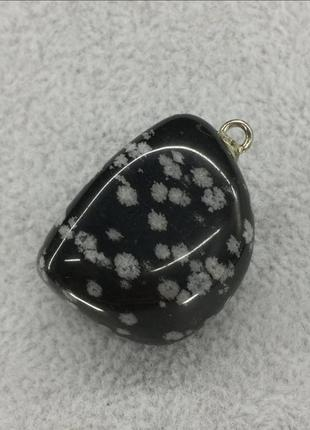Кулон из натурального камня обсидиан