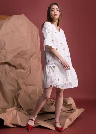 Акция до 30/07! летнее белое платье