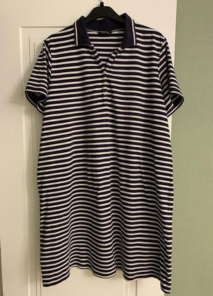 Хлопковое платье поло 46-48 eur