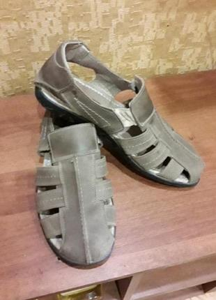 Натуральный нубук удобные туфли мокасины 42р (009)