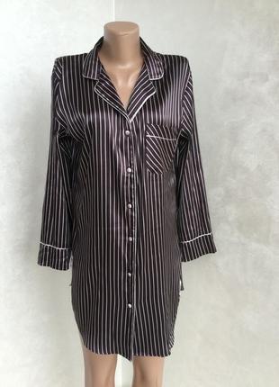 Ночнушка рубашка в полоску от m&s как шёлк