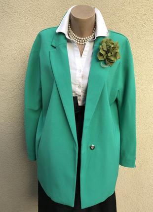 Новый,зелёный  жакет,пиджак,блейзер реглан,кардиган,большой размер,батал