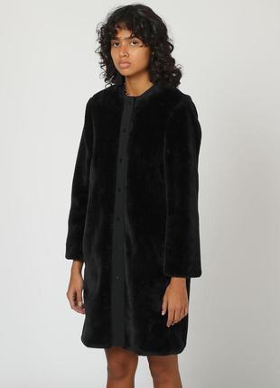 Новое пальто bimba y lola оригинал мех искусственный жакет куртка