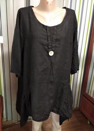 💯% лен блуза блузка футболка италия