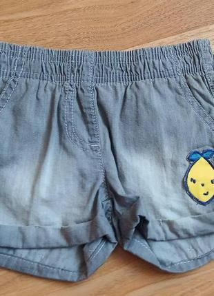 Джинсовые шорты lupilu 86-92