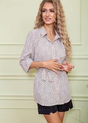 Блуза, цвет бежевый