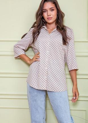 Блуза, цвет бежево-пудровый