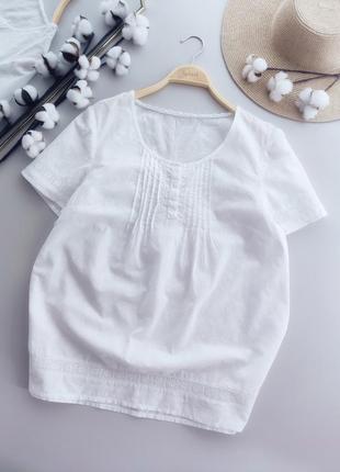 Натуральная блуза вышивка,прошва