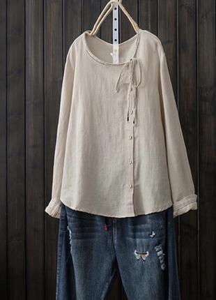 Блуза,рубаха,этно бохо,деревенский стиль,большой размер,батал,хлопок zanzea