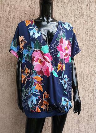Блуза блузка футболка батал uk 22