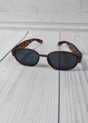 Солнцезащитные очки овал круг леопард