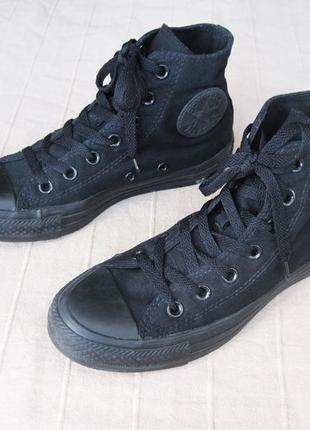 Converse all star hi black mono (37) кеды унисекс оригинал