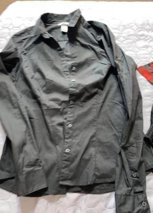 Базовая простая рубашка xs s