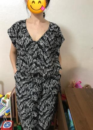Платье на кулиске размер м свободного кроя