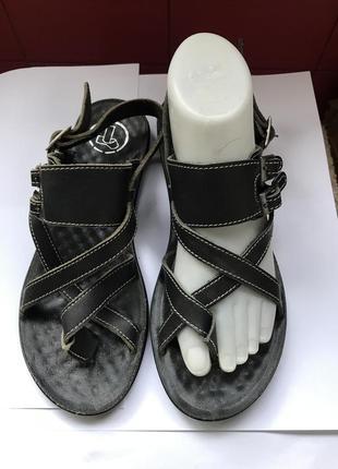 Шкіряні босоніжки, босоножки, обувь, взуття