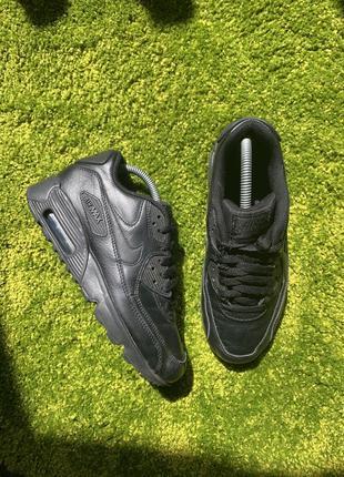 Кожаные кеды кроссовки nike air max 90, размер 38, 24 см