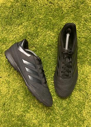 Кожаные футбольные сороконожки футзалки adidas copa, размер 43, 27.5 см