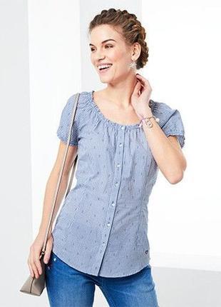 Нежная блуза из хлопка германия тсм tchibo 46