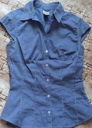 Женская рубашка- молодежка с коротким рукавом