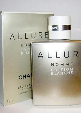 Chanel allure homme edition blanche оригинал 5 мл затест