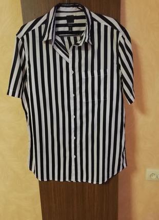 Натуральная лёгкая рубашка h&m