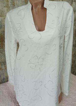 Классная лёгкая летняя блуза в цветочный принт