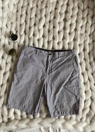 Мужские шорты с карманами классические прямые бермуды в полоску