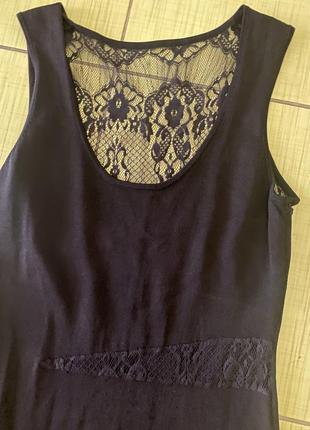 Платье бандажное резинка с кружевом