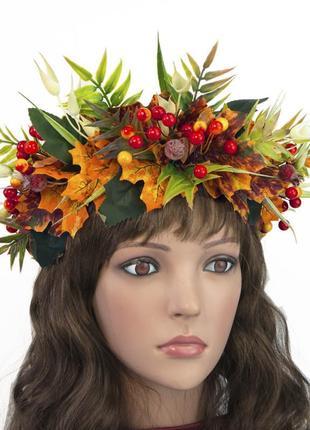 Красивый украинский осенний венок красимира 1