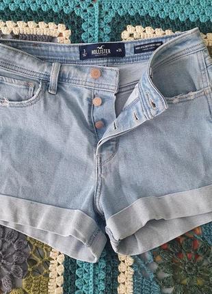 Джынсовые шорты hollister высокая посадка бойфренды