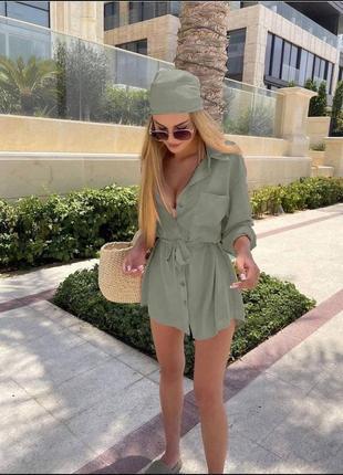 Платье халат летний